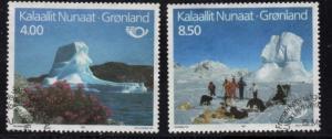 Greenland Sc 240-1 1991 Tourism stamp set used