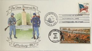 HNLP Hideaki Nakano 4788 The Union Preserved at Gettysburg on cover from 1992