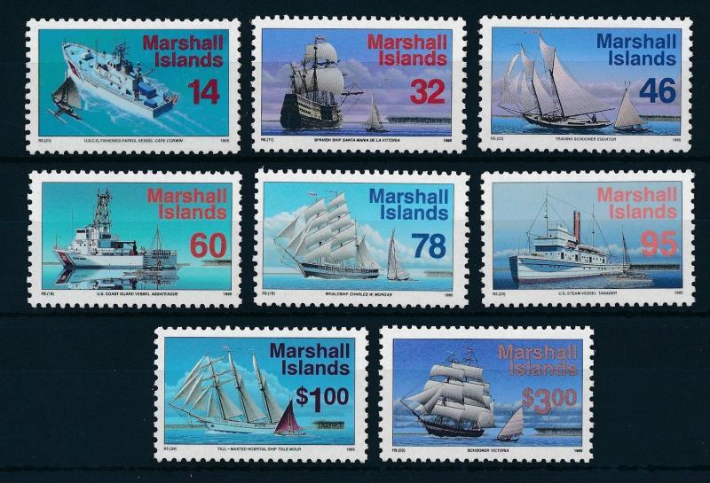 [24508] Marshall Islands 1995 Ships Boats Ships and sail boats MNH