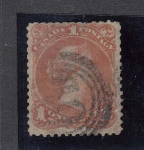 Canada #22b Used With 4 Ring 10 Cancel