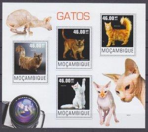 2014 Mozambique 7615-7618KL Cats 10,00 €
