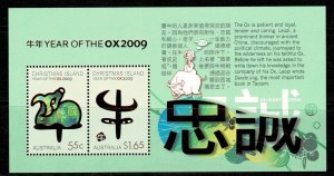 Christmas Island 2009 Year of the Ox MNH M/s