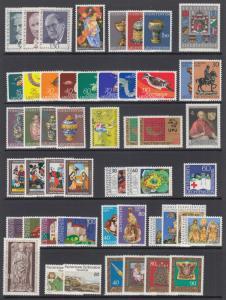 Liechtenstein Sc 509//620 MNH. 1972-1977 issues, 19 complete sets, VF