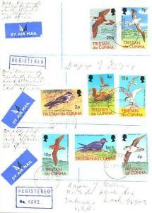 Tristan Da Cunha 1p, 2p, 3p, 4p, 5p, 10p, 15pand 20p QEII Birds 1977 Tristan ...
