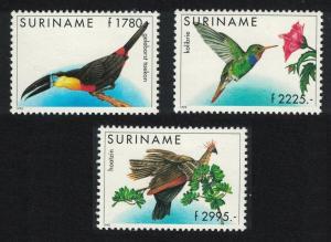 Suriname Toucan Sapphire Hoatzin Birds 3v SG#1641-1643 CV£50+