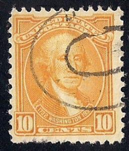 715 10 cent Washington, Stuart, Stamp used F