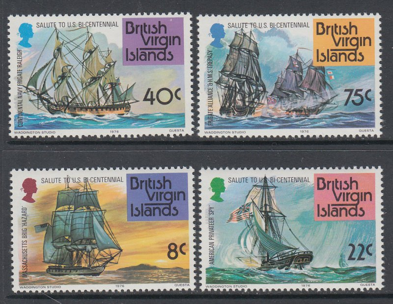 British Virgin Islands 309-312 Sailing Ships MNH VF