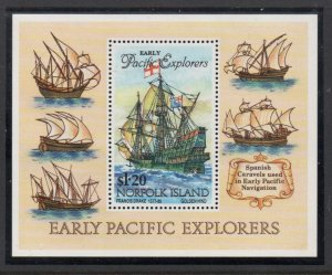 Norfolk Island Sc 562 1994 Explorers Ships stamp sheet mint NH
