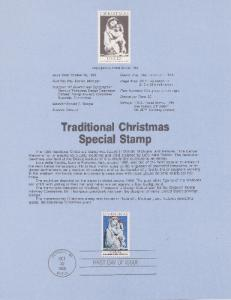 US SP708 Traditional Christmas Souvenir Page #2165