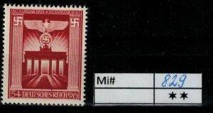 Deutschland Reich TR02 DR Mi 829 1939 Reich Postfrisch ** MNH