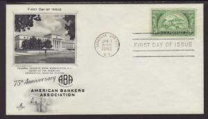 US 987 Bankers 1950 Artcraft U/A FDC