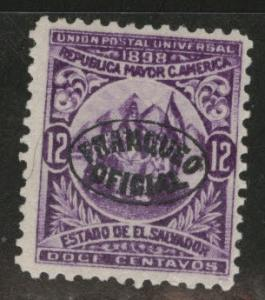 El Salvador Scott o134 MNG 1898 official WMK 117