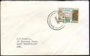 PAPUA NEW GUINEA 1965 cover ex BADILI......................................74165