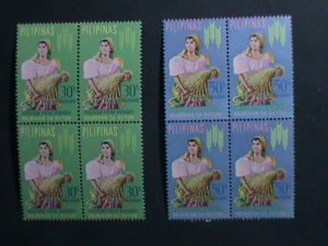 PHILIPPINES-1963-SC# C88-9 FREEDOM FROM HUNGER-MNH BLOCKS- VERY FINE