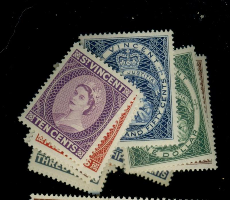 St Vincent #186-197 MINT VF OG NH Cat$44