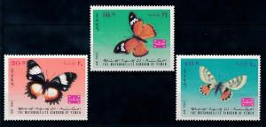 [70288] Yemen Kingdom 1968 Butterflies Airmail Stamps  MNH