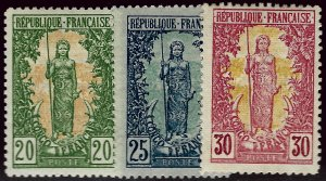 French Congo SC#41-43 Mint partial gum VF hr...Tough to Find!!