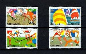 AITUTAKI - 1976 - OLYMPICS - CYCLING - RUNNING ++ MONTREAL - MNH MINT SET OF 4!