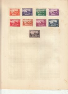 NORFOLK ISLAND ALBUM PAGE  VALUES MOSTLY 1937-55, MOUNTED MINT /USED