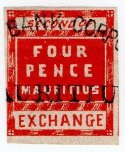 (I.B) Mauritius Revenue : Bill of Exchange 4d (Second)