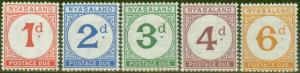 Nyasaland 1950 P.Due set of 5 SGD1-D5 V.F MNH