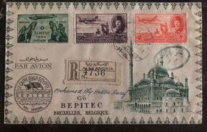 1949 Alexandria Egypt Special Flight Cover to BEPITEC Bruxelles Belgium