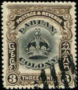 Labuan SC# 100A Crown 3c  used