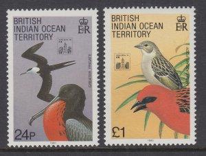 British Indian Ocean Territory 145-146 Birds MNH VF