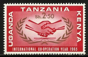 Kenya, Uganda & Tanzania 1965 Scott# 159 MH (gum disturbance)