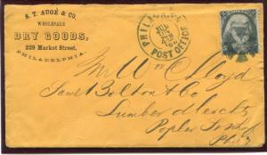 UNITED STATES (US) 73 USED,CLEAN ADVERTISING COVER