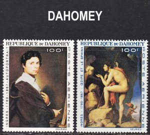 Dahomey Scott C49-50 complete set F to VF mint OG NH.