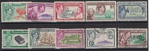 PITCAIRN 1940 Definitive set complete with 4d & 8d fine used................K202