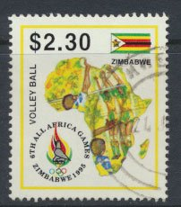 Zimbabwe SG 913  SC# 745 Used  1995 Africa Games  see detail and scan