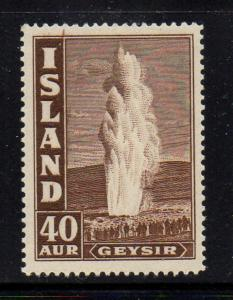 Iceland 1939 40 a dark brown Geyser stamp mint
