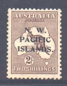 Australia NW Pacific Islands Scott 35 - SG115, 1919 Kangaroo 2/- MH*