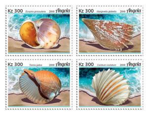 Z08 ANG18101a ANGOLA 2018 Marine shells of Angola 4v MNH ** Postfrisch