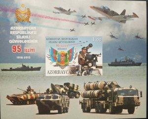 O) 2013 AZERBAIJAN, PROOF, AIRCRAFT - MILITARY AVIATION - TANK VEHICLE, ARMY - M