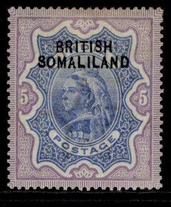 SOMALILAND PROTECTORATE EDVII SG13, 5r ultramarine & violet, M MINT. Cat £48.