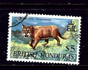 British Honduras 225 Used 1968 Mountain Lion
