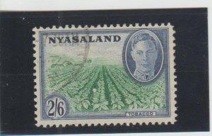 Nyasaland  Scott#  78  Used  (1945 Tobacco Estate)