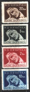 Croatia. 1944. 4-7. Medicine, wounded soldier. MLH.