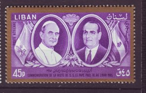 J24050 JLstamps 1965 lebanon set of 1 mnh #c437 pope paul