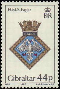 1987 Gibraltar #501-504, Complete Set (4), Never Hinged