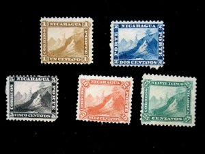 NICARAGUA - SCOTT# 3-7 - CS - MH - CAT VAL $117.50