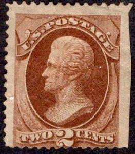 US Stamp #146 2c Red Brown Jackson MINT NO GUM SCV $135.00
