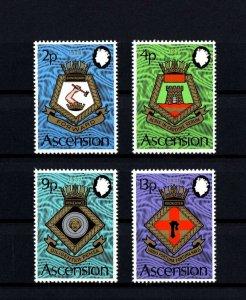 ASCENSION - 1973 - COATS OF ARMS - ROYAL NAVY SHIPS - CRESTS - MINT - MNH SET!