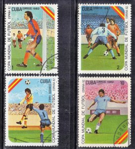 CUBA SC# 2469-72  **USED** 1982  SOCCER  SEE SCAN