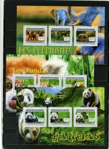 GUINEA 2006 FAUNA PANDAS AND ELEPHANTS 3 S/S MNH