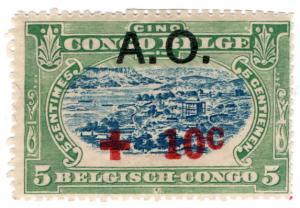 (I.B) Belgian Congo Postal : Red Cross Overprint 10c