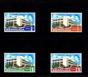 BERMUDA - 1967 - QE II - NEW POST OFFICE - HAMILTON - MINT - MNH SET!